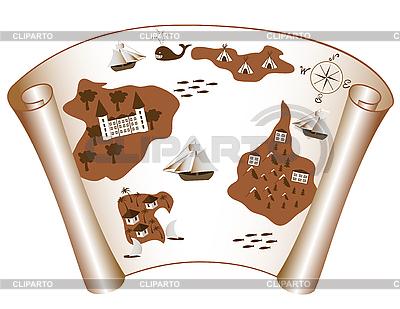Stara mapa wysp | Klipart wektorowy |ID 3014382