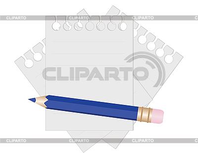 Bleistift und Papier für Notizen | Stock Vektorgrafik |ID 3014432