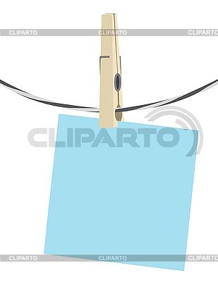 Papier-Blatt auf der Wäscheleine | Stock Vektorgrafik |ID 3014488