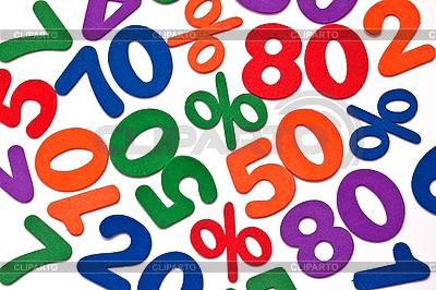 Hintergrund der Zahlen und Prozent - Ausverkauf | Foto mit hoher Auflösung |ID 3014602