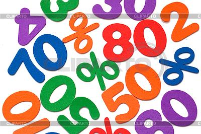 Tło z numerami i procenty | Foto stockowe wysokiej rozdzielczości |ID 3014622