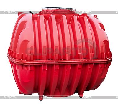 Red water tank | Foto stockowe wysokiej rozdzielczości |ID 3014637