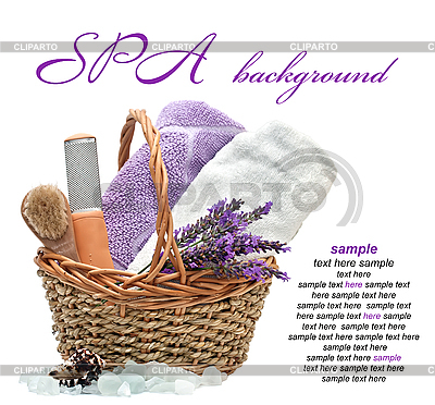 Spa-Muster mit Lavendel | Foto mit hoher Auflösung |ID 3016525