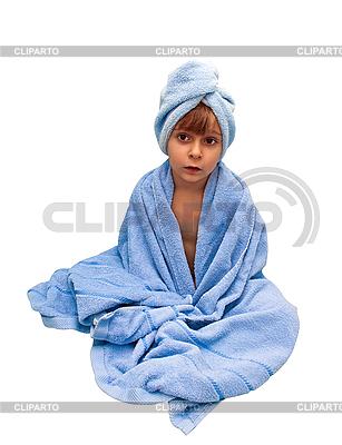 Chłopiec w ręcznik | Foto stockowe wysokiej rozdzielczości |ID 3018885