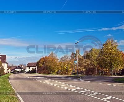 Domy w małej miejscowości w Niemczech. Europa. | Foto stockowe wysokiej rozdzielczości |ID 3019080