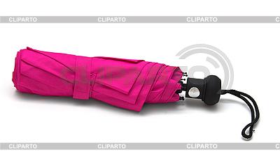 Różowy parasol samodzielnie na białym tle. | Foto stockowe wysokiej rozdzielczości |ID 3019081