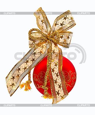 Красный елочный шар с бантом | Фото большого размера |ID 3019093