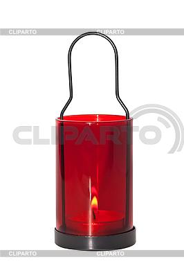 빨간색 촛불 흰색 배경에 고립 | 높은 해상도 사진 |ID 3019229