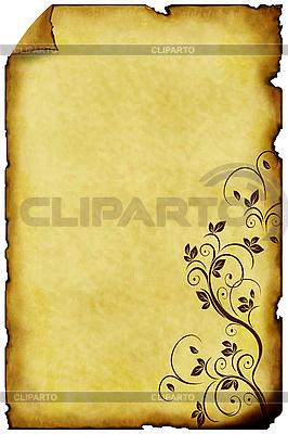 Старая бумага с орнаментом | Иллюстрация большого размера |ID 3019256