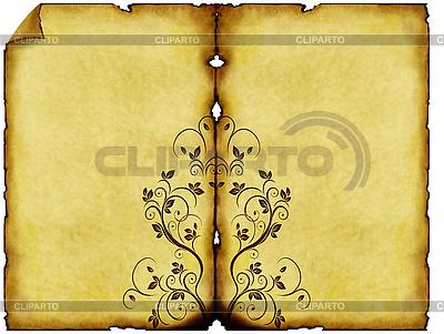 Старая бумага с орнаментом | Иллюстрация большого размера |ID 3019257