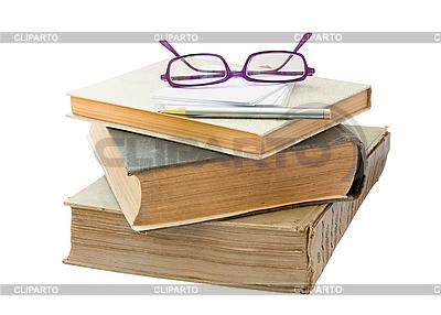Alte Bücher mit Brille | Foto mit hoher Auflösung |ID 3019329
