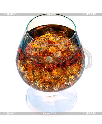 Brandy z lodem w szklance | Foto stockowe wysokiej rozdzielczości |ID 3024379
