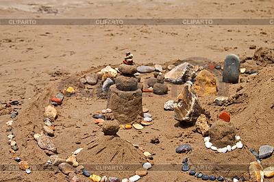 Sandburg am Strand | Foto mit hoher Auflösung |ID 3024439