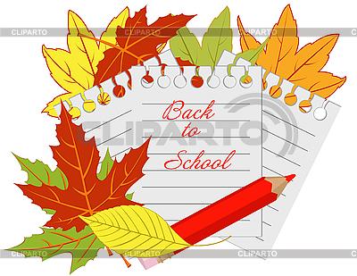 Zurück in die Schule   Stock Vektorgrafik  ID 3027906