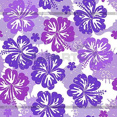 Nahtloses lila Blumenmuster | Stock Vektorgrafik |ID 3059488