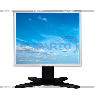 Monitor LCD wyizolowanych na białym tle | Foto stockowe wysokiej rozdzielczości |ID 3015255