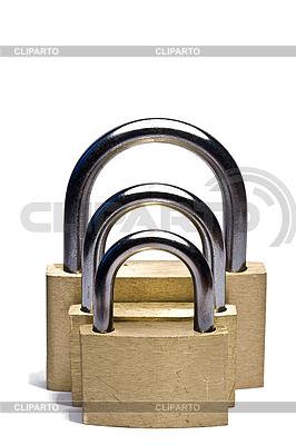 Три навесных замка разного размера | Фото большого размера |ID 3015315