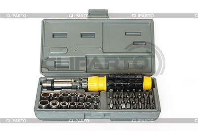 Screw driver and spanner kit | Foto stockowe wysokiej rozdzielczości |ID 3015348