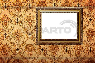 Позолоченная рамка на ретро-обоях | Фото большого размера |ID 3015454