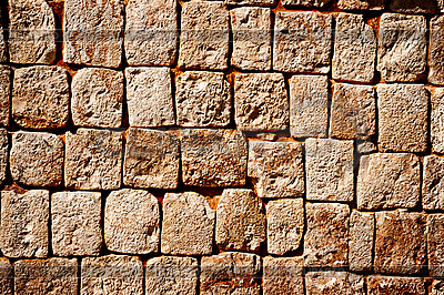 Stone wall of ancient Mayan pyramids in Uxmal, Mexico | High resolution stock photo |ID 3015720