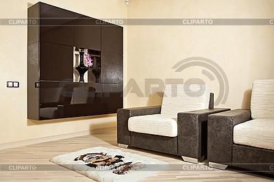 Część wnętrza z fotel, dywan i niszowych | Foto stockowe wysokiej rozdzielczości |ID 3016749