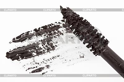 Stroke of black mascara szczotki | Foto stockowe wysokiej rozdzielczości |ID 3016835