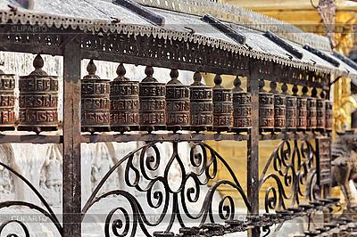 Gebetsmühlen im Affentempel, Kathmandu | Foto mit hoher Auflösung |ID 3016964