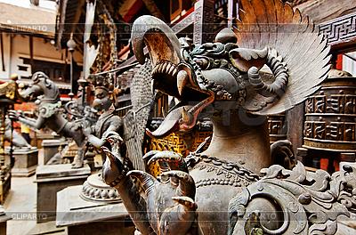 可怕的怪兽雕像,加德满都,尼泊尔 | 高分辨率照片 |ID 3016982