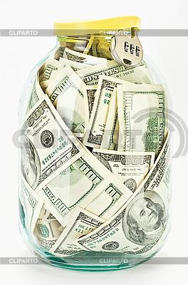Viele $100-Banknoten im Glas | Foto mit hoher Auflösung |ID 3017178