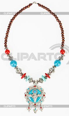 Tibetische Halskette mit Jak-Symbol | Foto mit hoher Auflösung |ID 3017196