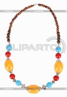 Ethnische tibetische Halskette mit Bernstein | Foto mit hoher Auflösung |ID 3017197