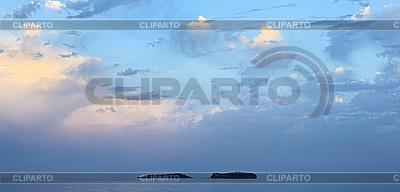 Morze krajobraz z dwóch wysp i piękne niebo turkus | Foto stockowe wysokiej rozdzielczości |ID 3017253