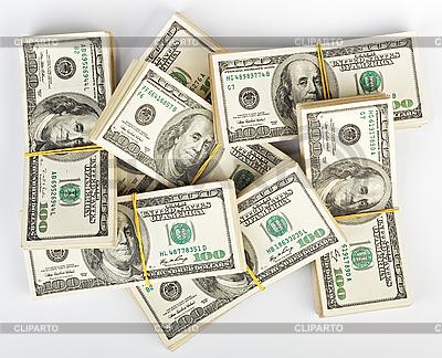 Wiele pakiet 100 dolarów amerykańskich banknotów | Foto stockowe wysokiej rozdzielczości |ID 3024532