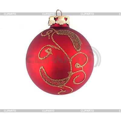 Red Christmas tree toy | Foto stockowe wysokiej rozdzielczości |ID 3017563