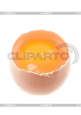 Открытое яйцо и желток | Фото большого размера |ID 3017622