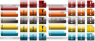 Kolorowe ikony wykrzyknika | Stockowa ilustracja wysokiej rozdzielczości |ID 3017860