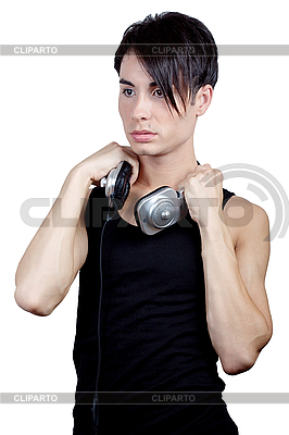 Молодой человек слушает музыку | Фото большого размера |ID 3039227