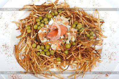 Salat mit Lachs | Foto mit hoher Auflösung |ID 3018978