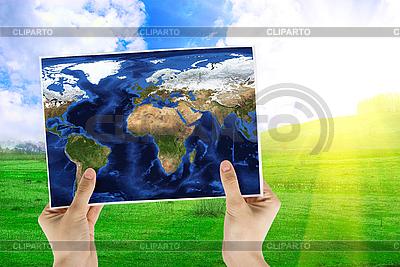 Weltkarte | Foto mit hoher Auflösung |ID 3019061
