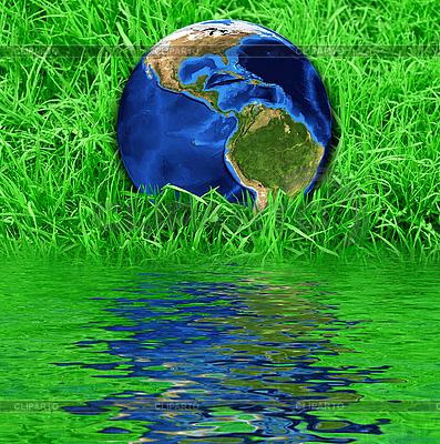 Ziemia na zielonej trawie | Foto stockowe wysokiej rozdzielczości |ID 3019152