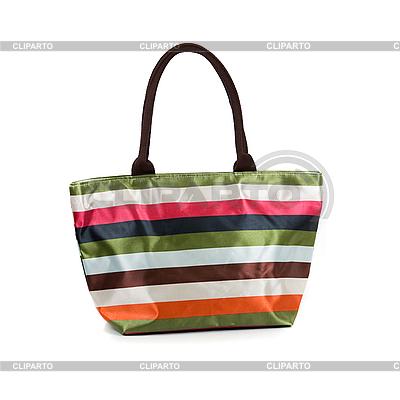 Striped torba plażowa | Foto stockowe wysokiej rozdzielczości |ID 3019393