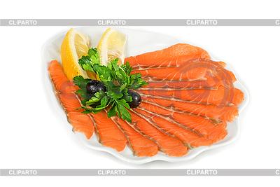 Lachs mit Salat | Foto mit hoher Auflösung |ID 3019427