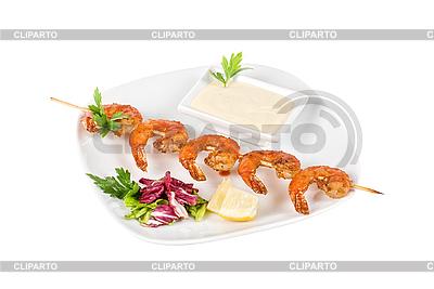 Kebab von Garnelen | Foto mit hoher Auflösung |ID 3019444