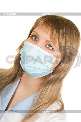Arztin mit Schutzmaske | Foto mit hoher Auflösung |ID 3019587