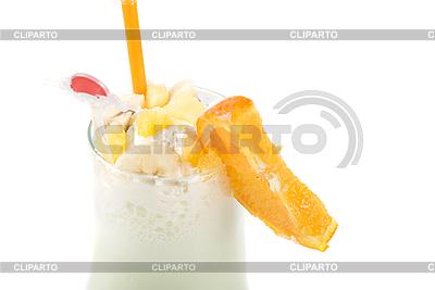 Milchmischgetränk mit Früchte | Foto mit hoher Auflösung |ID 3019673