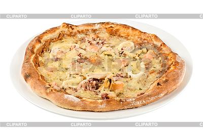 Owoce morza pizzy zbliżenie | Foto stockowe wysokiej rozdzielczości |ID 3019703