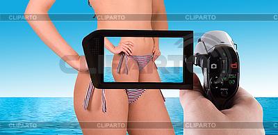 Bikini Strand-Aufnahme | Foto mit hoher Auflösung |ID 3020630