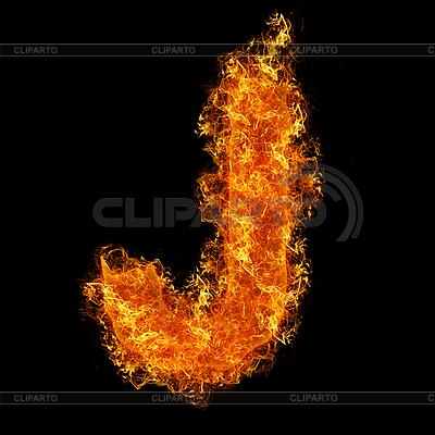 Fire letter J | Foto stockowe wysokiej rozdzielczości |ID 3021420