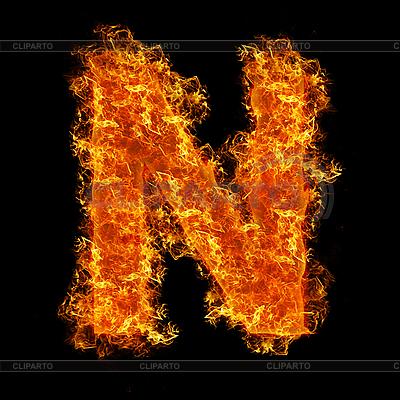 Огненная буквица N | Фото большого размера |ID 3021424