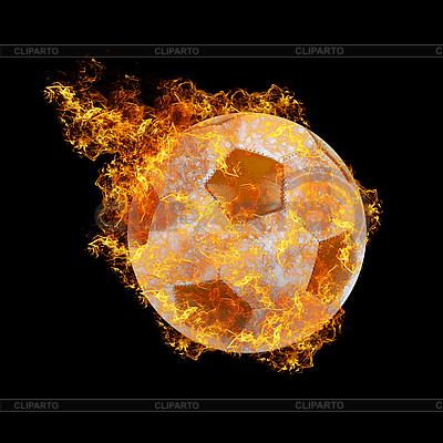 Огненный футбольный мяч | Фото большого размера |ID 3021446